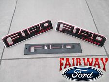 15 thru 17 F-150 Ford Special Edition RED Fender & Tail Gate Emblem Set LARIAT