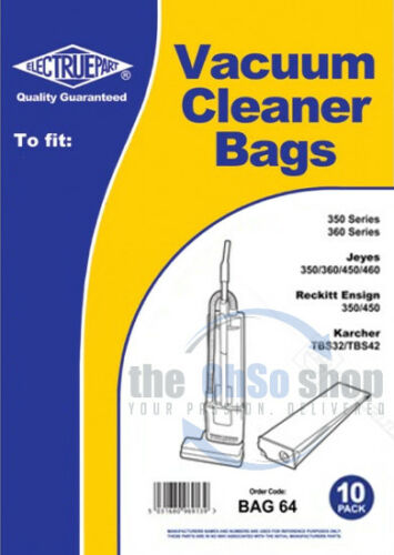 10 x JEYES Vacuum Cleaner Paper Dust Bags To Fit  350 460 450 360