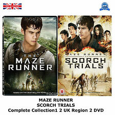 MAZE RUNNER Complete Collection 1 2 Scorch trials 1 2 NEW SEALED UK R2 DVD