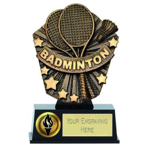 Cosmos Mini Badminton Trophy Award 12.5cm free engraving /& p/&p