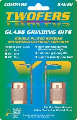 """Stained Glass Grinder Bits Twofers Bit 1/"""" Aanraku Twofers 2 bit set"""