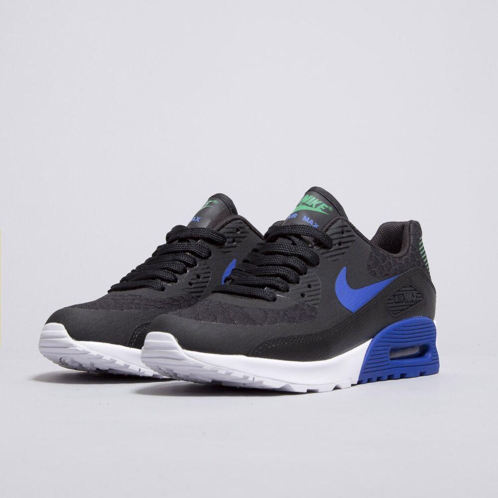 Nike Air Max 90 Ultra 2.0 Noir Paramount Bleu Taille UK 4.5 EUR 38 881106 001-