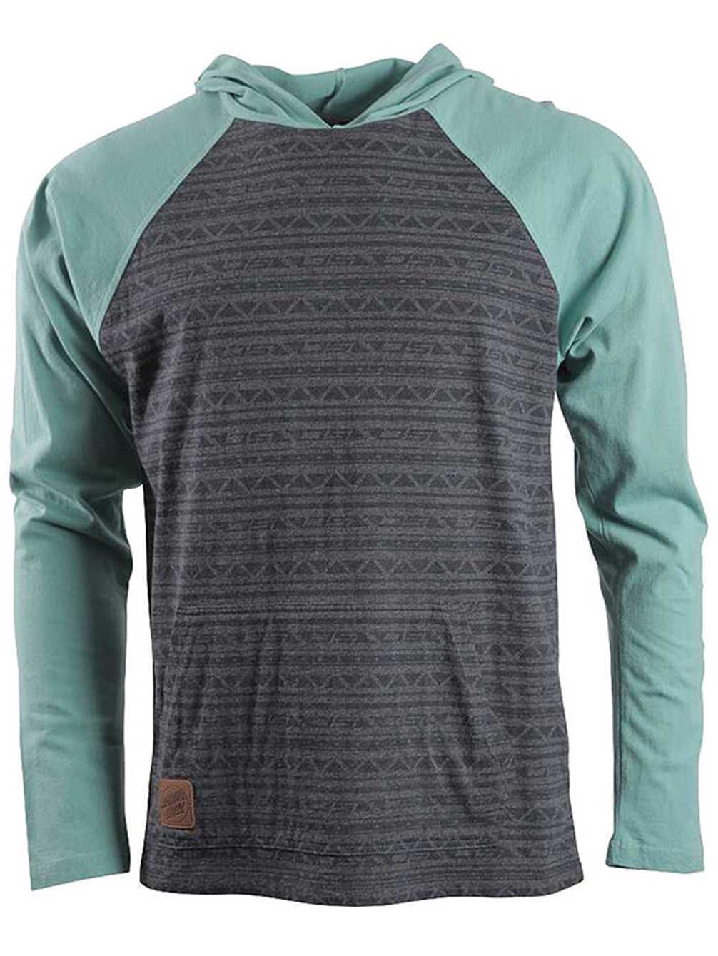 SANTA CRUZ Kapuzen Longsleeve Shirt Bombora, grau grau grau   türkis, Gr. XL  | Optimaler Preis  62e8d6