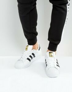 Men-039-s-adidas-Superstar-White-Black-C77124