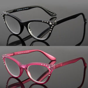 973274e5b374 Women Classy Elegant Retro CAT EYE READING EYE GLASSES READERS Bling ...