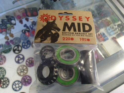 ODYSSEY MID BOTTOM BRACKET BLACK 19MM BMX BICYCLE CRANK BEARING KIT