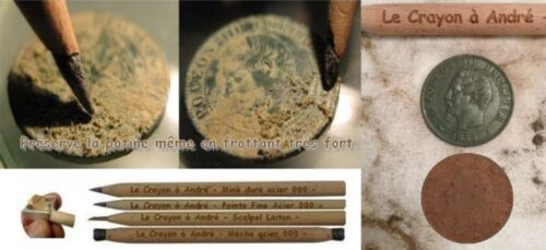 Le CRAYON un ANDRE-monete//Artifact di pulizia-METAL DETECTOR-detecnicks Ltd
