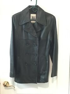 dacac48c4 Details about Pre-owned Jones New York Women's Leather Jacket Size Medium  Black Excellent