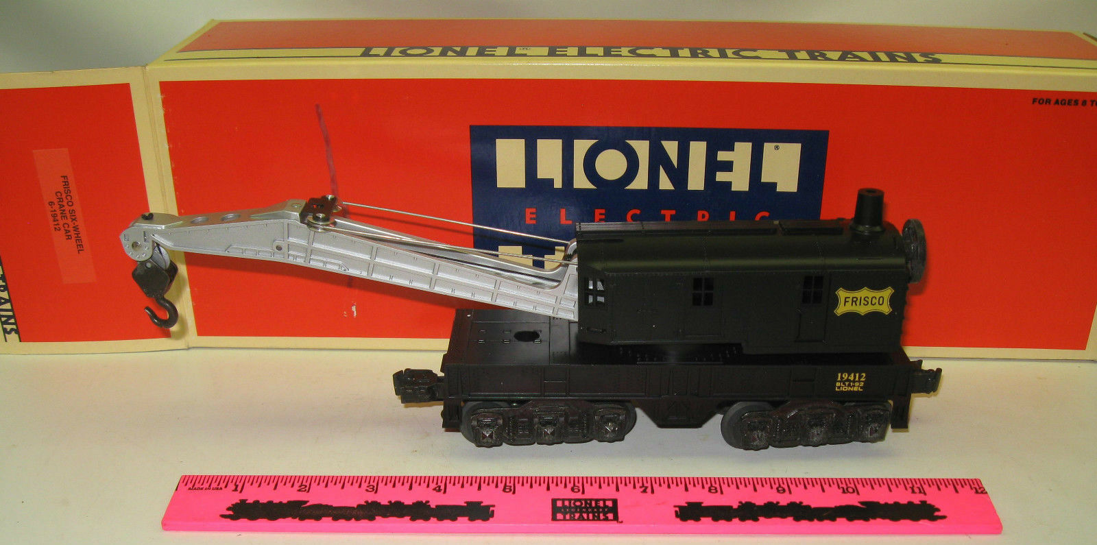 Lionel 6-19412 Frisco Six-wheel crane car