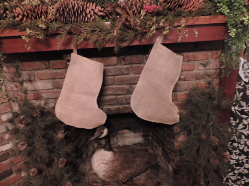 privet listing for thehenries plain Burlap-Style Stocking small 4x8