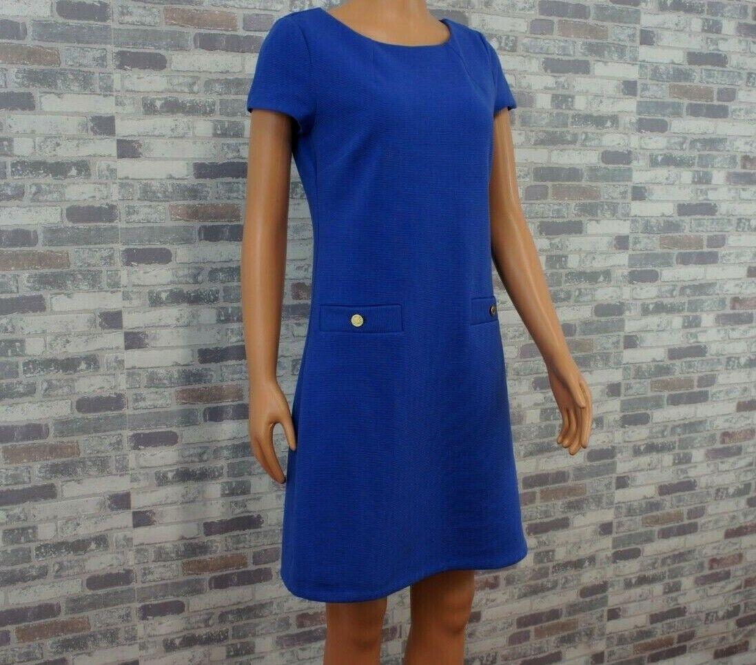 Lilly Lilly Lilly Pulitzer   Designer abito fisso Bottoni oro blu   S   Neuw e9261d