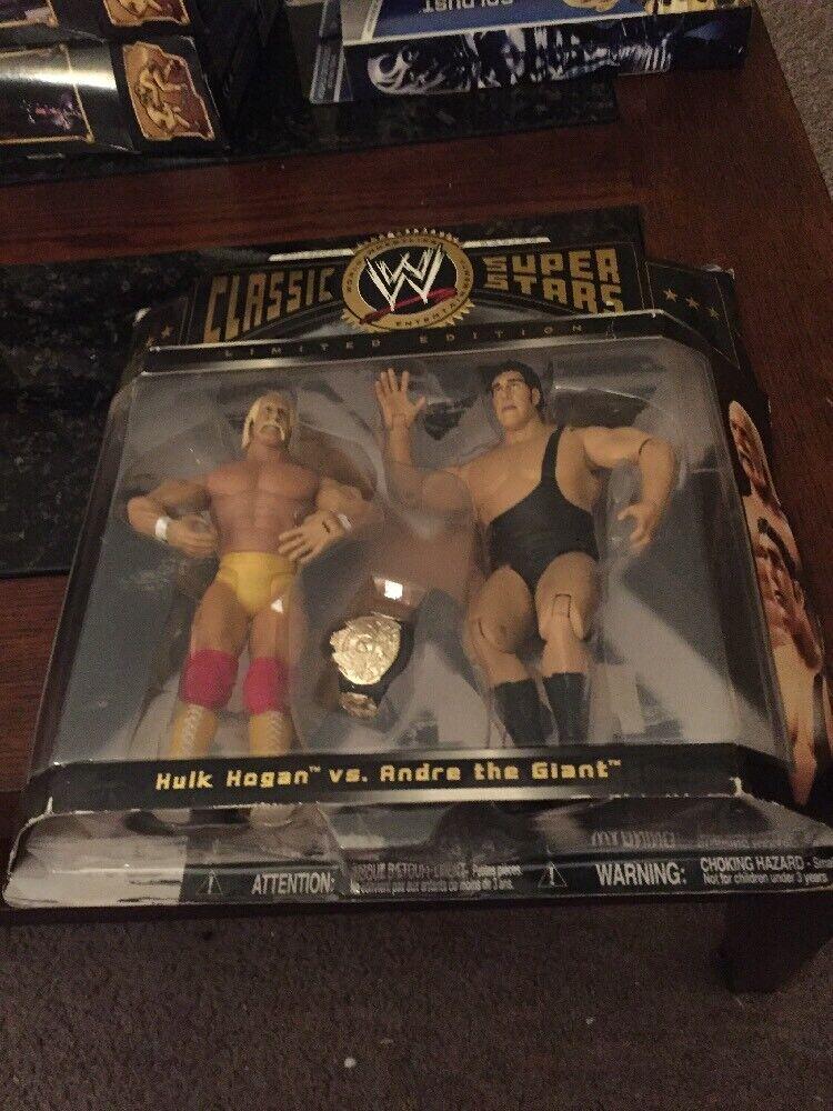 WWE Classic Superstars HULK HOGAN & ANDRE THE GIANT Wrestlemania 3 WWF Figures