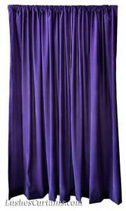 396cm-Haut-solide-Velours-Violet-Rideau-panneau-long-salles-de-cinema