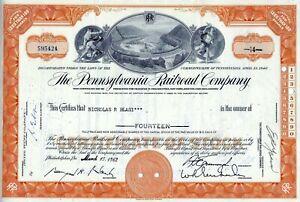 The-Pennsylvania-Railroad-Company-1962-14-Shares