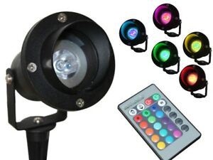 LED Gartenstrahler 1,5m Kabel + Stecker wasserdicht IP68 RGB + ...
