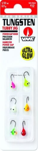 NEW VMC Tungsten Tubby Jig Kit 1//32 oz #12 Hook Glow TTJ132G6