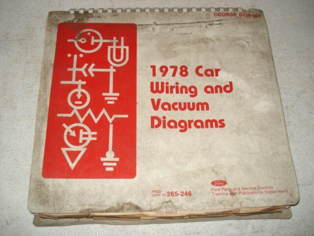 1978 Ford Wiring Diagrams Service Manual Mustang  U0026 More