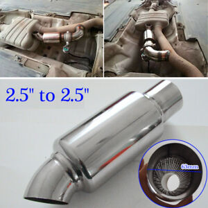 Stainless-Steel-Car-Exhaust-Downpipe-Branch-Sound-Tuning-Muffler-Pipe-63mm-2-5-039-039