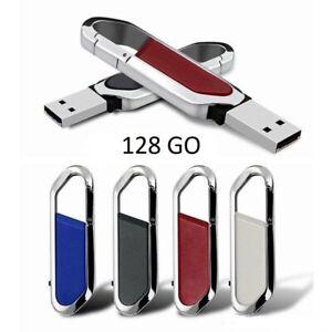 Cle Usb Pivotante 2.0 Flash Drive 128 Go Porte Cle Metalique Universel Renforcement De La Taille Et Des Nerfs