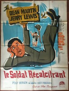 Affiche-LE-SOLDAT-RECALCITRANT-At-war-with-the-army-JERRY-LEWIS-120x160cm