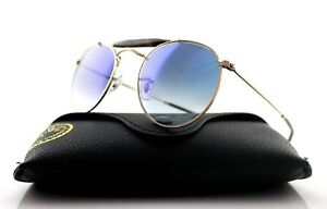 1ddc423228 NEW Authentic RAY-BAN Copper Blue Gradient Round Sunglasses RB 3747 ...