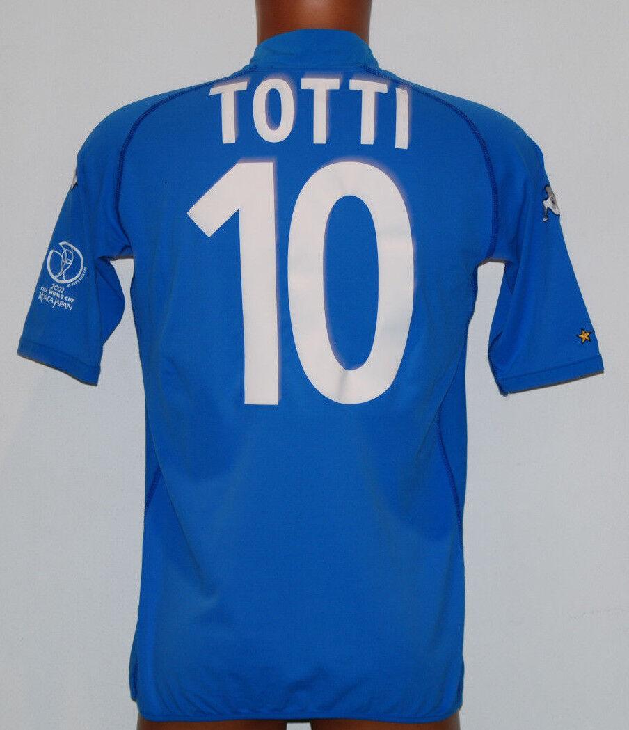 Maglia italia TOTTI WC 2002 Japan Korea mondiale home XL jersey shirt vintage