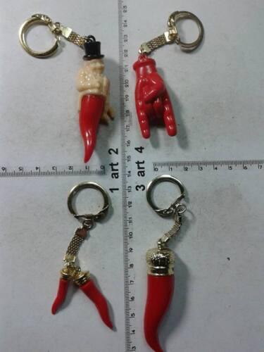 1 CORNO CORNI SCIO/' plastica porta fortuna portachiavi gobbo horn charms amuleti