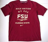Men's NIKE FLORIDA STATE UNIVERSITY FSU SEMINOLES T shirt size medium M