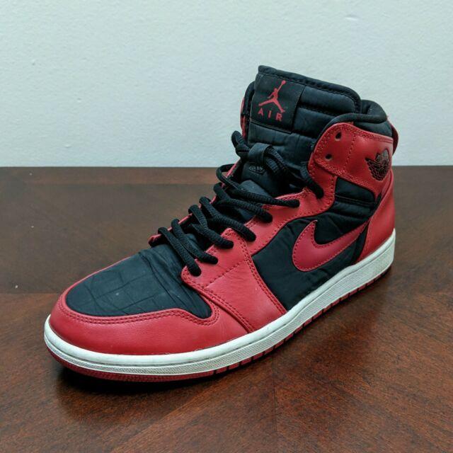 Size 9 - Jordan 1 High Strap Black Gym Red