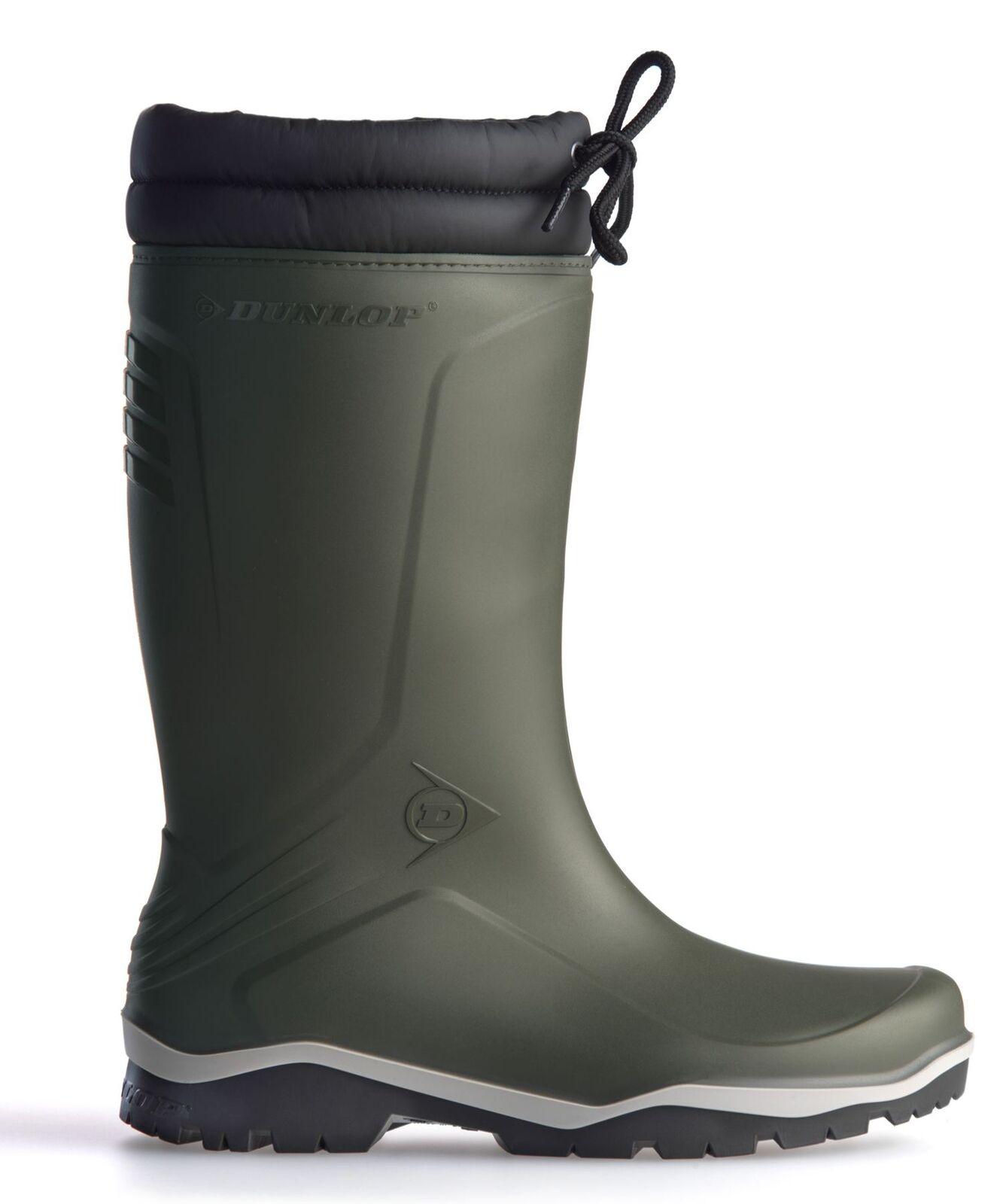 Dunlop Blizzard Warm Fleece Linned Padded Collar Wellington Boots
