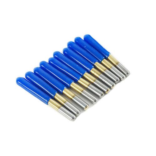 10x Titan beschichtet Hartmetall PCB Gravur CNC Bit Router Werkzeug 30 Grad 0,1