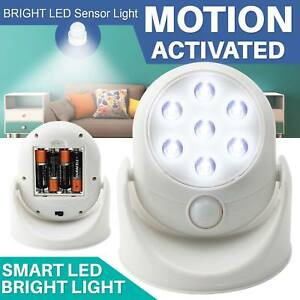 Led motion sensor light battery operated indoor outdoor garden wall image is loading led motion sensor light battery operated indoor outdoor aloadofball Images