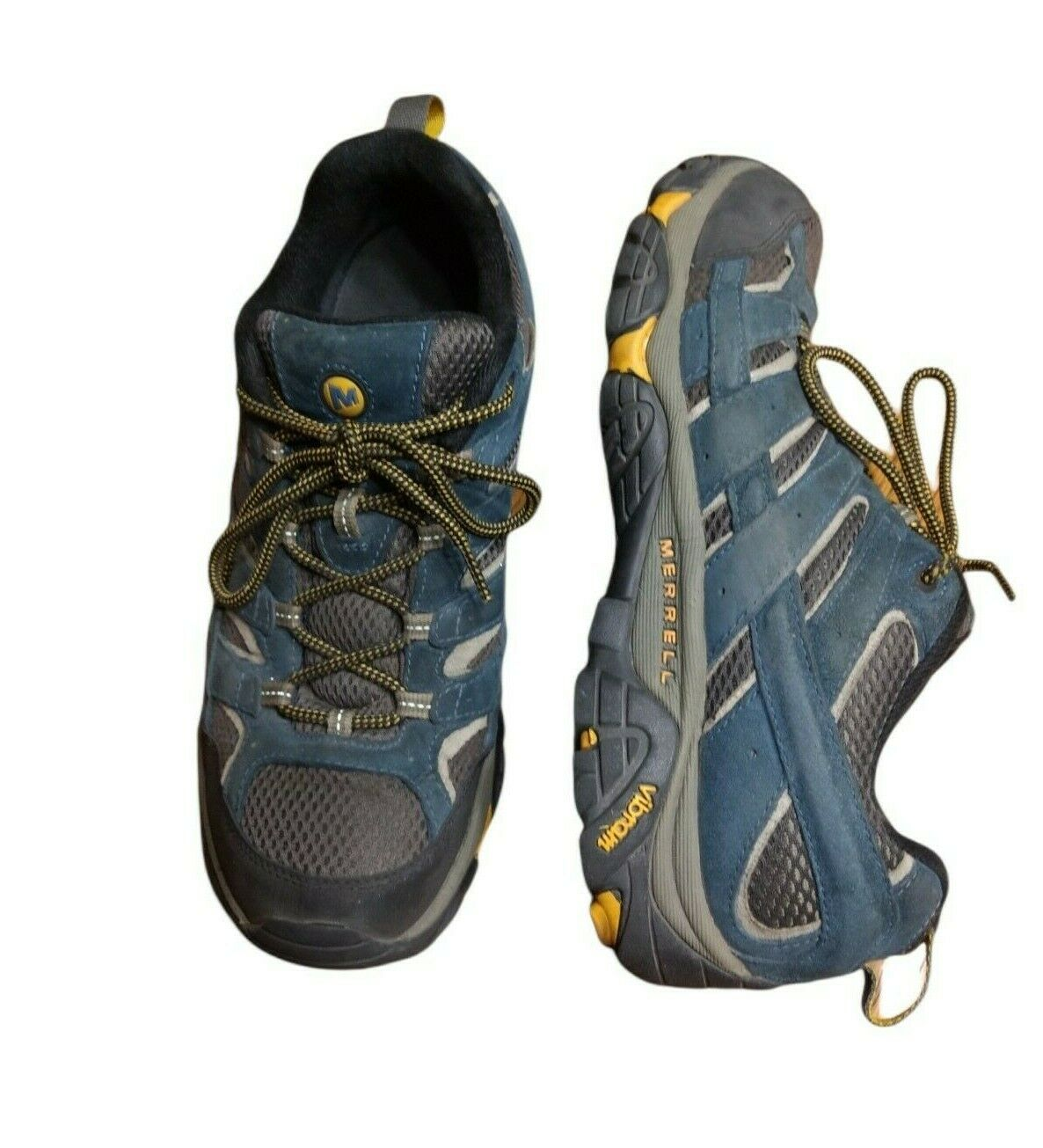 Merrell Mens Moab Ventilator 2 Hiking Shoes Size 11 J49061 Blue Lace Up Low Top
