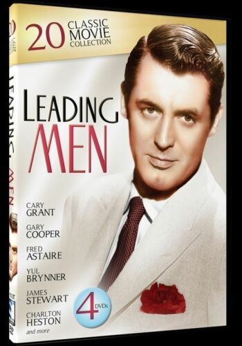 1 of 1 - DVD Movie - LEADING MEN 20 Classic Movie Collection 4 Discs - Brand New - Reg 4