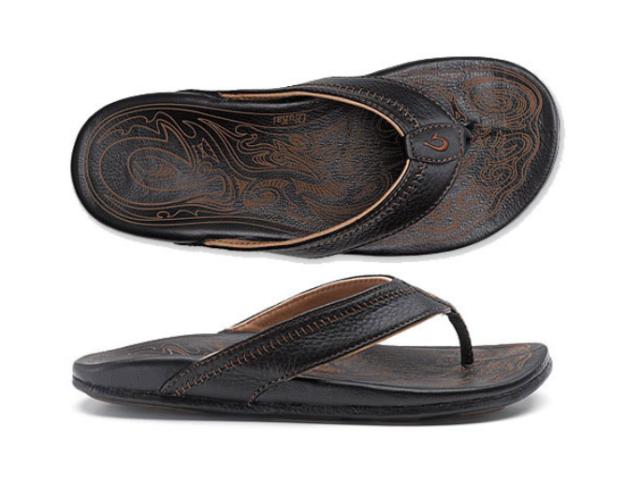73f0702d8 OluKai Hiapo 10101 Black black Mens Sandal Shoes 12 M for sale ...