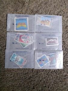 Vintage Stamps From Williams Stamp Company Set Of 6 1960's-1970's
