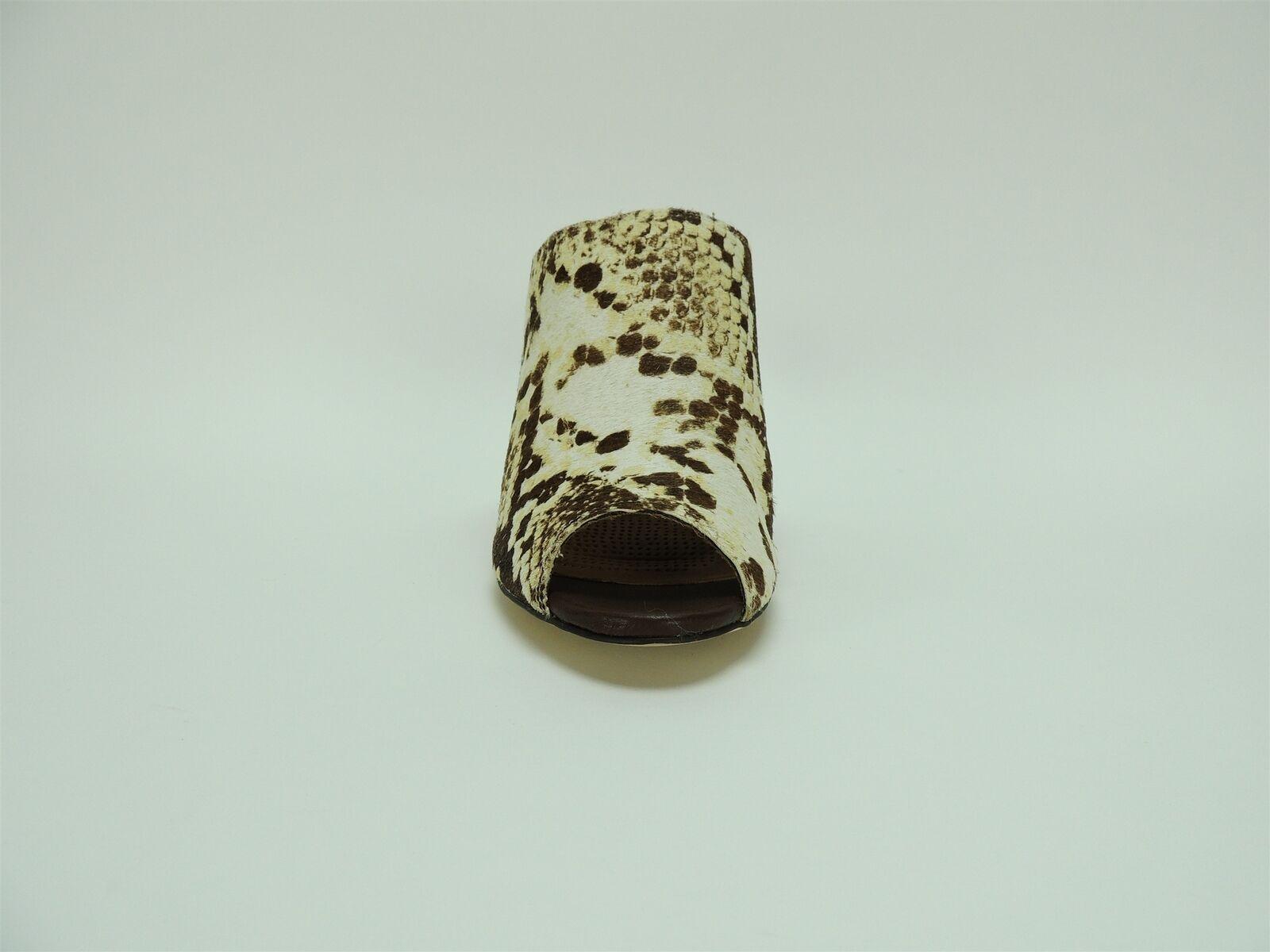 Corso Como Women's Central Wedge Sandal Natural Multi Hair Snake Snake Snake Size 9.5 M e07917