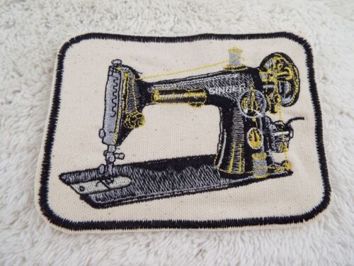 """E6 Singer Vintage Sewing Machine 4-1//2/"""" Embroidery Iron-on Patch"""