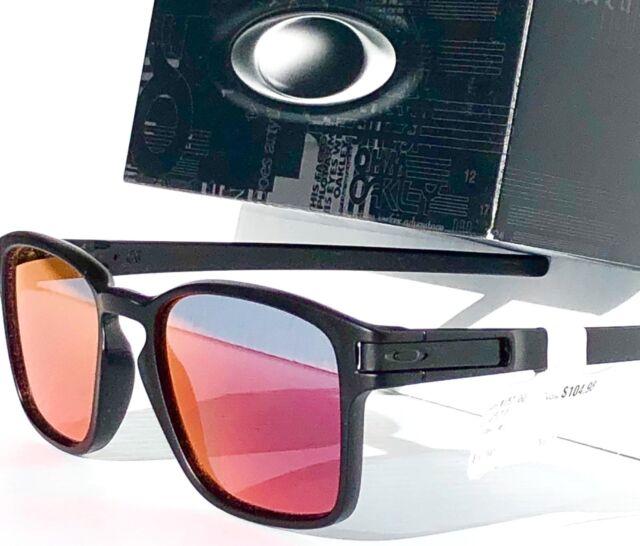 170a2983ca0 NEW  Oakley LATCH SQ Matte BLACK w TORCH Iridium lens Sunglass oo9358-03