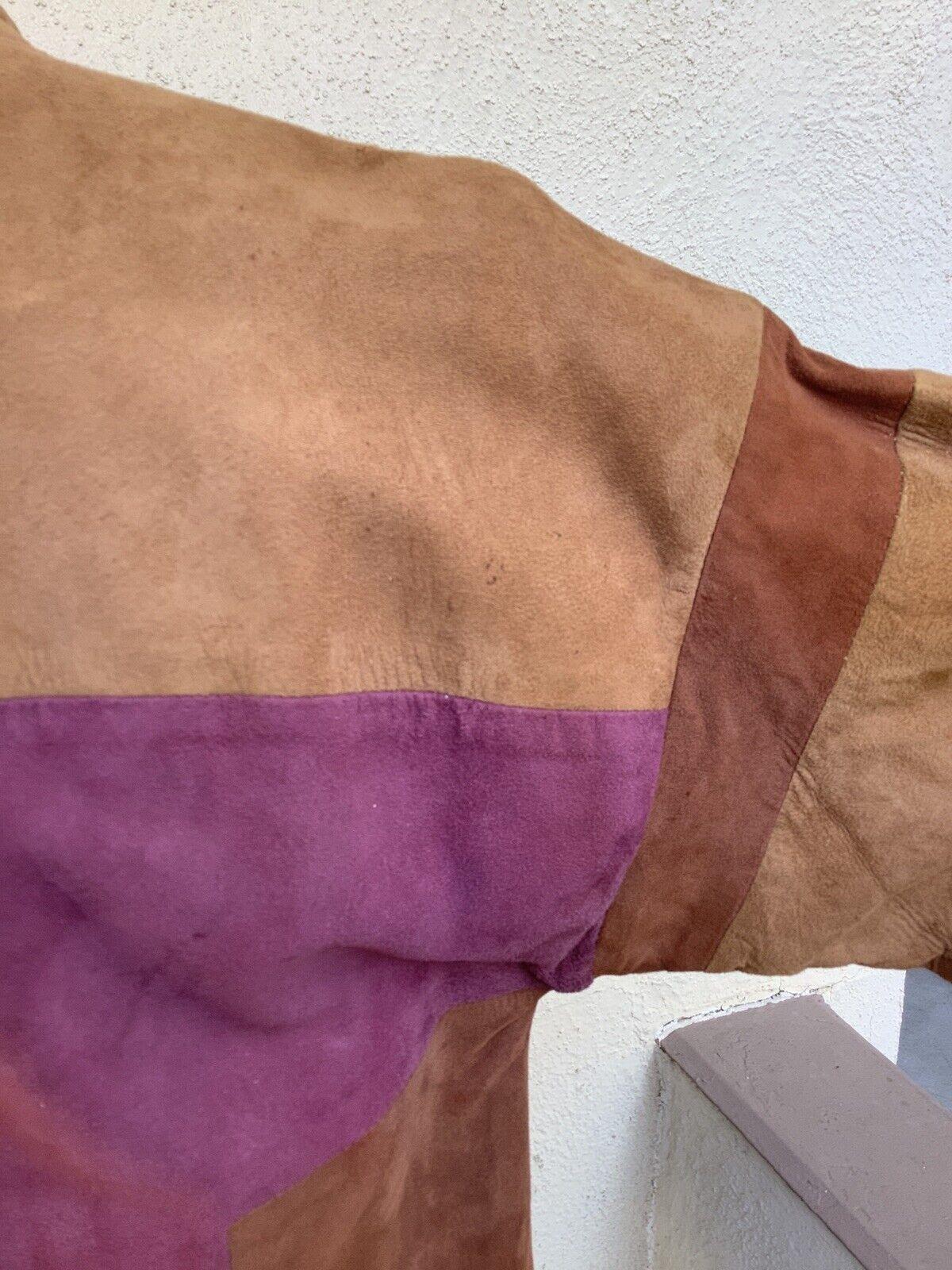 Bonnie Cashin Sills Suede Colorblock Jacket Coat … - image 6