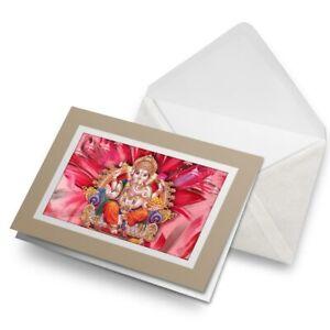 Greetings-Card-Biege-Hindu-Lord-Ganesha-Indian-India-21688