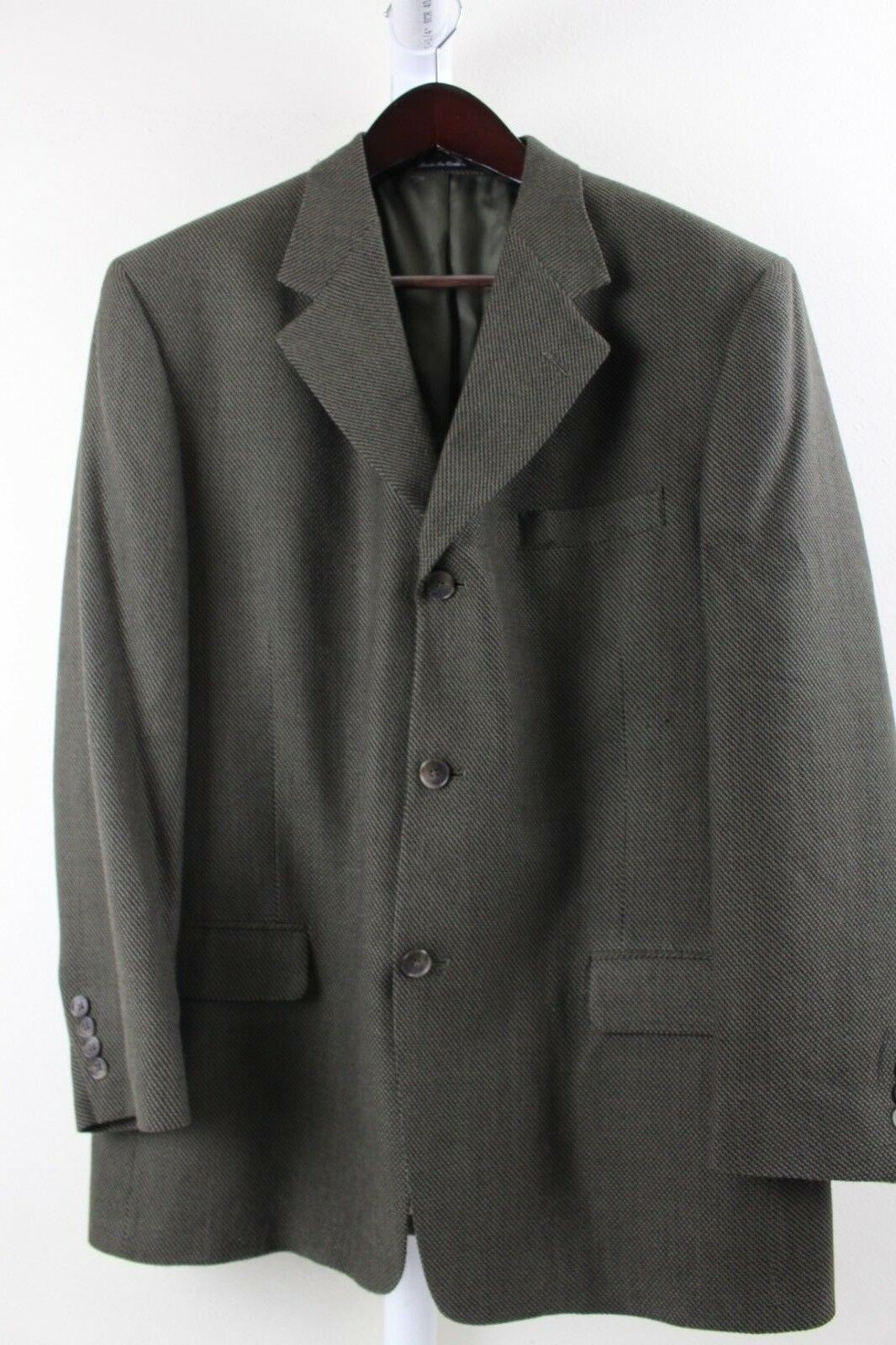 Perry Ellis 100% Wool Multi-Farbeed Grün 3 Button Lined Blazer Größe - 42R