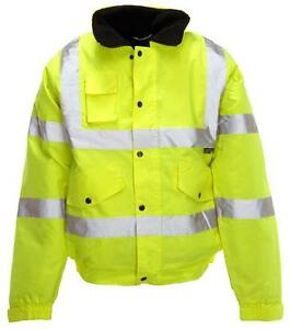 HI-VIS BOMBER JACKET YELL XXL Personal Protection & Site Safety Clothing