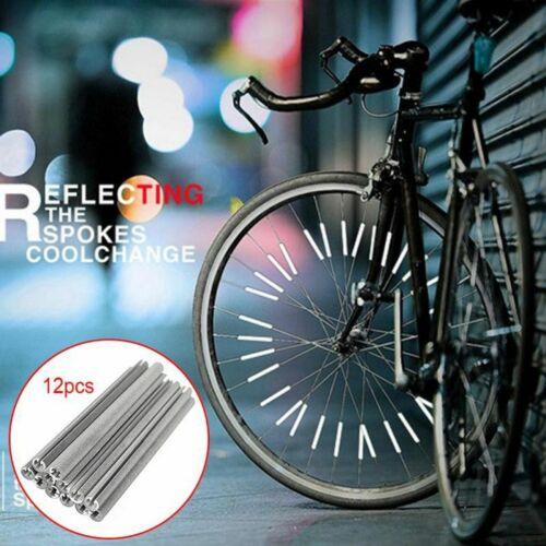 Cycling Wheel Rim Spoke Bike Tube Warning Light Strip Reflector Reflective Tubes