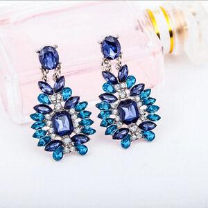 1 Pair Crystal Earrings Hot Elegant Stud New Rhinestone Women Fashion