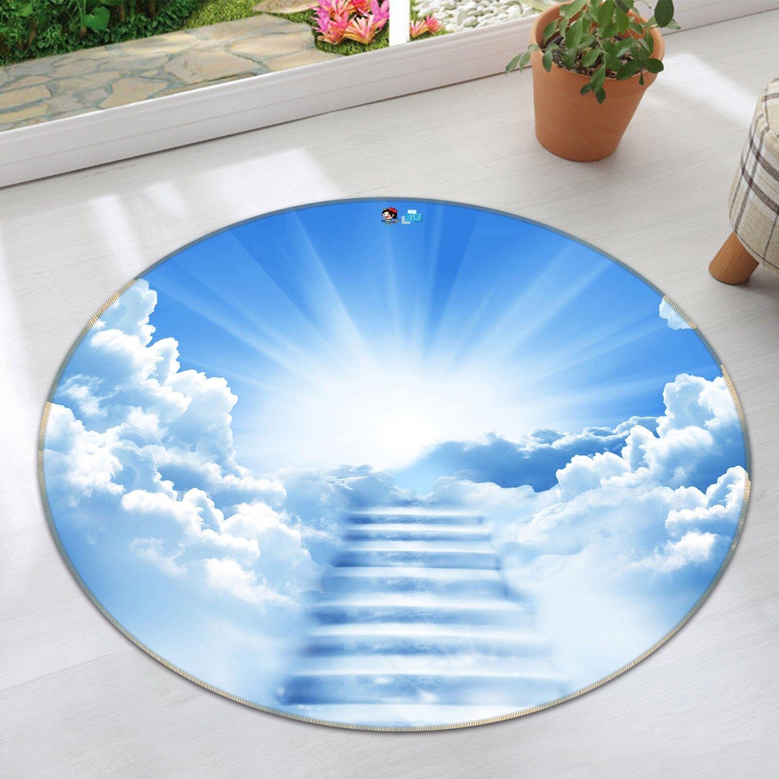 3D Cloud View 45 Non Slip Rug Mat Room Mat Round Elegant Photo Carpet US Summer