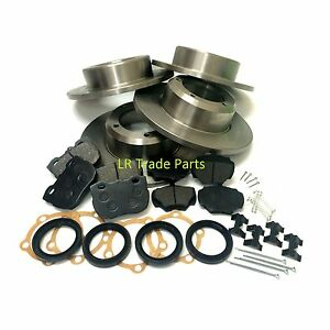 LAND-ROVER-DISCOVERY-1-200TDI-300TDI-FRONT-amp-REAR-SOLID-BRAKE-DISCS-amp-PADS-KIT