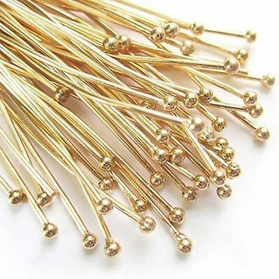 30mm head pins 300  Bright silver plated Headpins