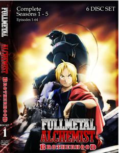Fullmetal Alchemist Brotherhood (Episodes 1-64, Seasons 1 ...