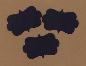 50-Blank-Black-Vintage-Tags-Labels-Cardstock-Wedding-scrapbooking-Frames